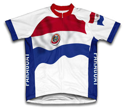 Paraguay Flag Cycling Jersey for Men and Women