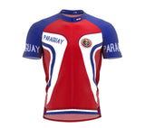 Paraguay  Full Zipper Bike Short Sleeve Cycling Jersey