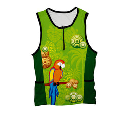 Parrot Paradise Triathlon Top