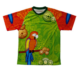 Parrot Paradise Technical T-Shirt for Men and Women