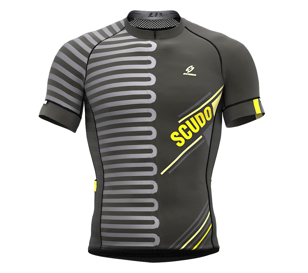 Pedaling Gray Short Sleeve Cycling PRO Jersey