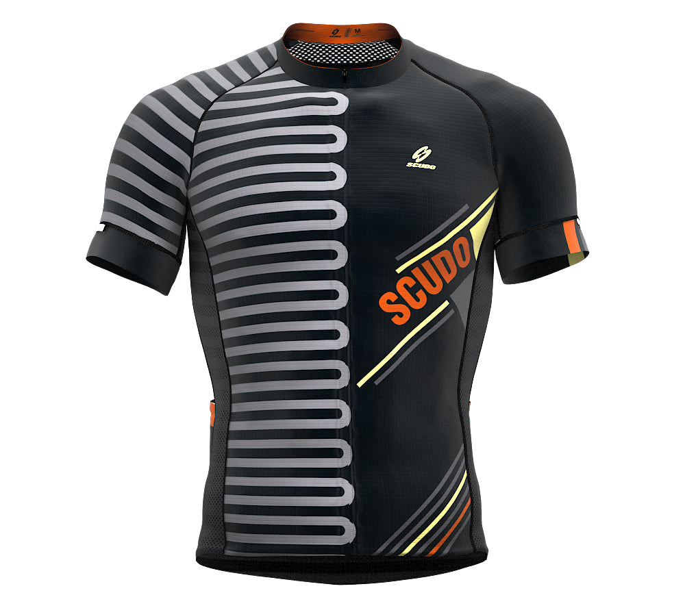 Pedaling Orange Short Sleeve Cycling PRO Jersey