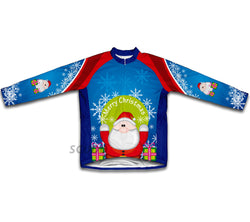 Peekaboo Santa Winter Thermal Cycling Jersey