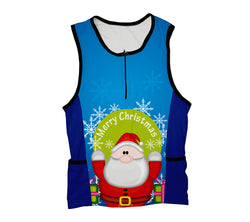 Peekaboo Santa Triathlon Top