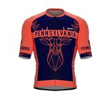 ScudoPro Pro-Elite Short Sleeve Cycling Jersey Pennsylvania USA State Icon landmark symbol identity  | Men and Women
