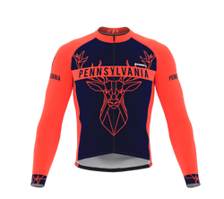ScudoPro Pro Thermal Long Sleeve Cycling Jersey Pennsylvania USA state Icon landmark identity  | Men and Women