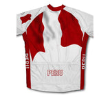 Peru Flag Cycling Jersey for Men and Women