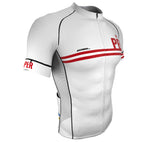 Peru White CODE Short Sleeve Cycling PRO Jersey for Men and Women