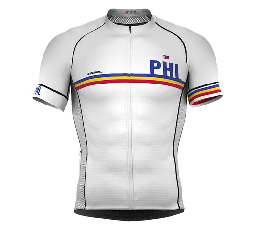 Philippines White CODE Short Sleeve Cycling PRO Jersey for Men and WomenPhilippines White CODE Short Sleeve Cycling PRO Jersey for Men and Women