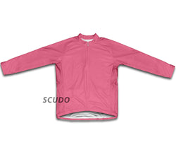 Keep Calm and Bike On Pink Winter Thermal Cycling Jersey