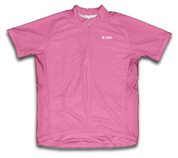 Pink Short Sleeve Cycling Jersey for Men and Women