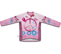 Pink Peace Winter Thermal Cycling Jersey