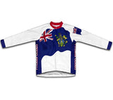 Pitcairn Islands Flag Winter Thermal Cycling Jersey