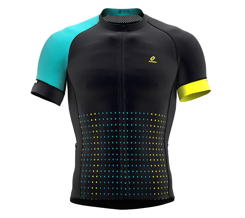 Pixel Green Short Sleeve Cycling PRO Jersey