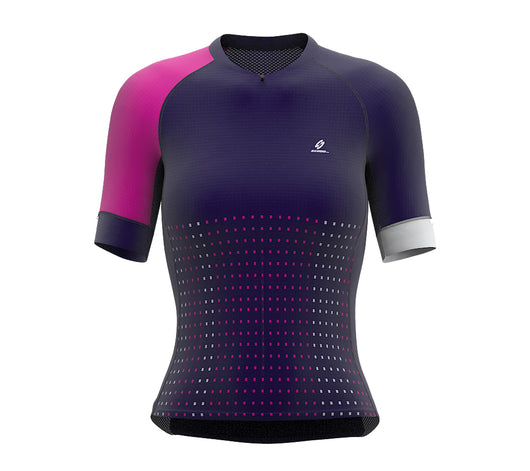 Pixel Violet Short Sleeve Cycling PRO Jersey