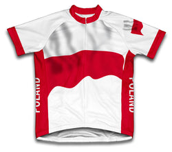 Poland Flag Cycling Jersey for Men and Women