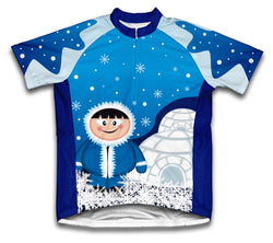 Polar Ice Man Short Sleeve Cycling Jersey for Men and Women