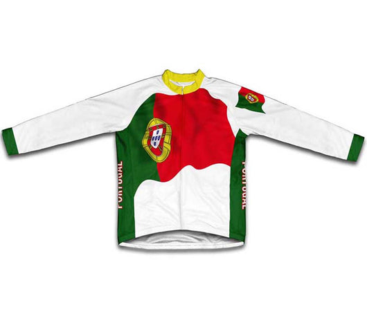 Portugal Flag Winter Thermal Cycling Jersey