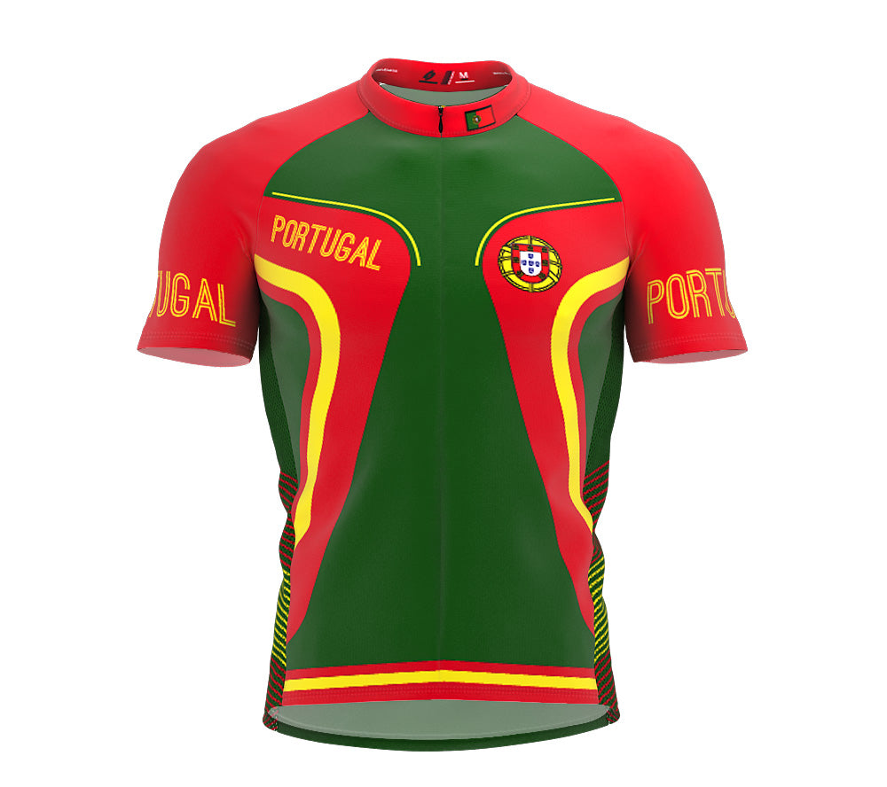 Portugal  Full Zipper Bike Short Sleeve Cycling Jersey