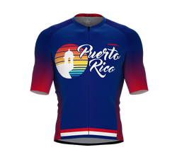 ScudoPro Pro-Elite Short Sleeve Cycling Jersey Puerto Rico USA State Icon landmark symbol identity  | Men and Women