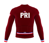 ScudoPro Pro Thermal Long Sleeve Cycling Jersey Country CODE Puerto Rico | Men and Women