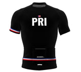 Puerto Rico Black CODE Short Sleeve Cycling PRO Jersey for Men and Women