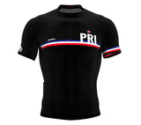 Puerto Rico Black CODE Short Sleeve Cycling PRO Jersey for Men and WomenPuerto Rico Black CODE Short Sleeve Cycling PRO Jersey for Men and Women