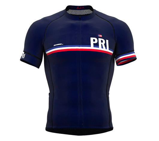 Puerto Rico Blue CODE Short Sleeve Cycling PRO Jersey for Men and WomenPuerto Rico Blue CODE Short Sleeve Cycling PRO Jersey for Men and Women