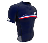 Puerto Rico Blue CODE Short Sleeve Cycling PRO Jersey for Men and Women