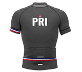 Puerto Rico Gray CODE Short Sleeve Cycling PRO Jersey for Men and Women