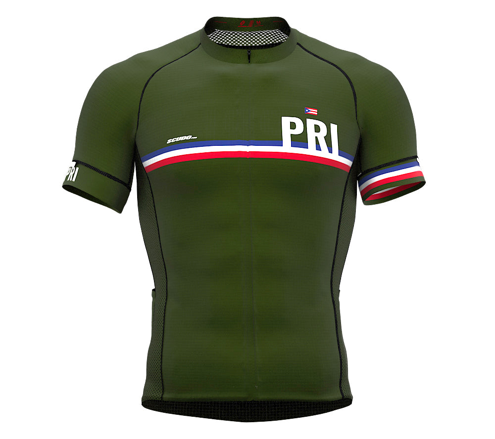 Puerto Rico Green CODE Short Sleeve Cycling PRO Jersey for Men and WomenPuerto Rico Green CODE Short Sleeve Cycling PRO Jersey for Men and Women