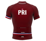 Puerto Rico Vine CODE Short Sleeve Cycling PRO Jersey for Men and Women