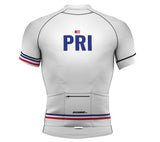 Puerto Rico White CODE Short Sleeve Cycling PRO Jersey for Men and Women