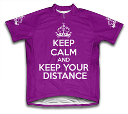Keep Calm and Keep Your Distance Purple Cycling Jersey