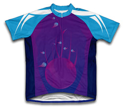 Purple Twist Short Sleeve Cycling Jersey for Men and Women