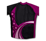 Raspberry Fusion Short Sleeve Cycling Jersey for Men and Women