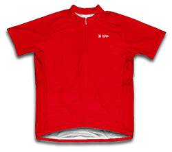 Red Short Sleeve Cycling Jersey for Men and Women