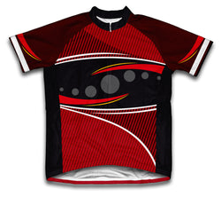 Red Frontier Short Sleeve Cycling Jersey for Men and Women