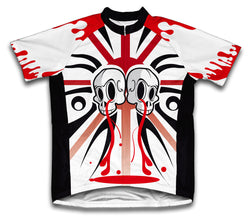 Red Kill Drip Short Sleeve Cycling Jersey for Men and Women