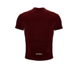 Chroma Contrast |  Short Sleeve Cycling Jersey Redwine - Blue zip/seam | Men and Women