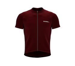 Chroma Contrast |  Short Sleeve Cycling Jersey Redwine - Grey zip/seam | Men and Women