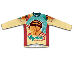 Retro Cycler Winter Thermal Cycling Jersey