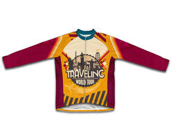 Retro Traveling Winter Thermal Cycling Jersey