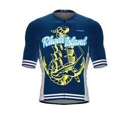 ScudoPro Pro-Elite Short Sleeve Cycling Jersey Rhode Island USA State Icon landmark symbol identity  | Men and Women