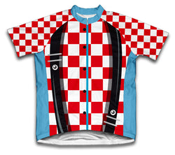 Rodeo Clown Short Sleeve Cycling Jersey for Men and Women