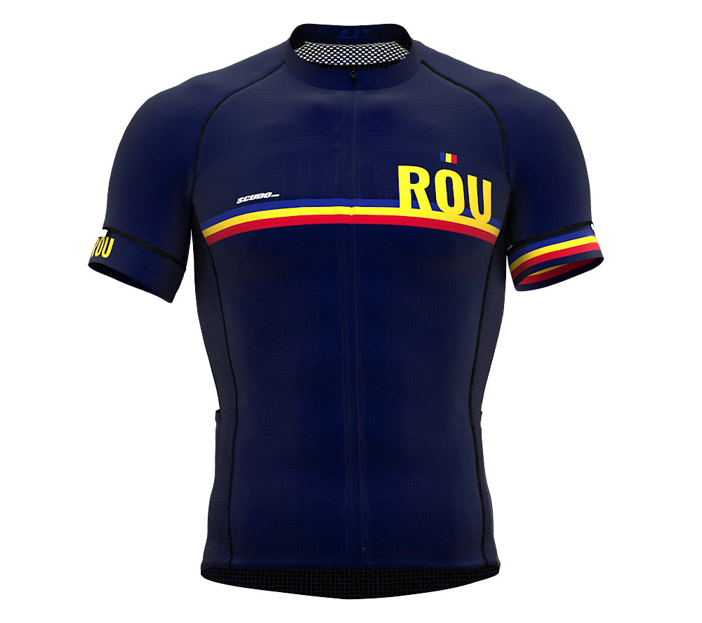 Romania Blue CODE Short Sleeve Cycling PRO Jersey for Men and WomenRomania Blue CODE Short Sleeve Cycling PRO Jersey for Men and Women