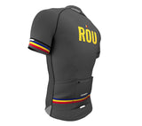 Romania Gray CODE Short Sleeve Cycling PRO Jersey for Men and Women