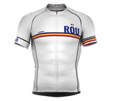 Romania White CODE Short Sleeve Cycling PRO Jersey for Men and WomenRomania White CODE Short Sleeve Cycling PRO Jersey for Men and Women