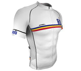 Romania White CODE Short Sleeve Cycling PRO Jersey for Men and Women