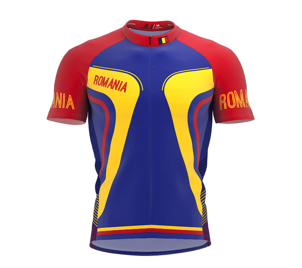 Romania  Full Zipper Bike Short Sleeve Cycling Jersey